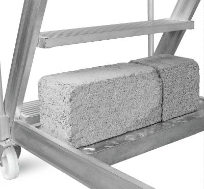 ALUMINIUM CANTILEVER STAIRCASE LADDER – Albawadi Metals-UAE